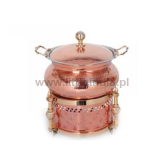 Sovereign Round Copper Chafing Dish - Soverign (LC-149)