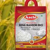 Sona Masoori Raw & Boiled Rice 5kg Aachi