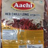 Red Chilli Long (stem cut) 250G Aachi